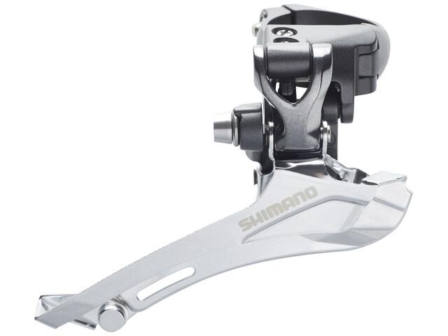 Shimano FD-CX70 Forskifter 2x10-speed hurtig top-pull grå/sort